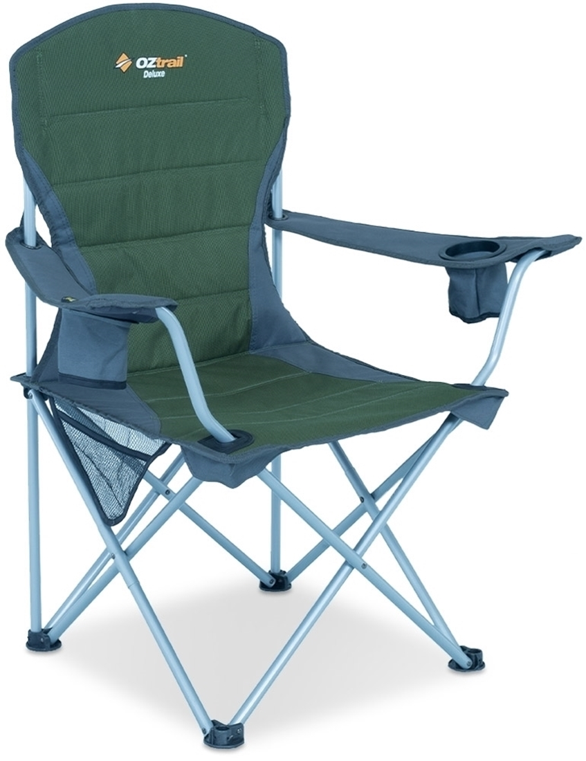 Oztrail Deluxe Arm Chair Green