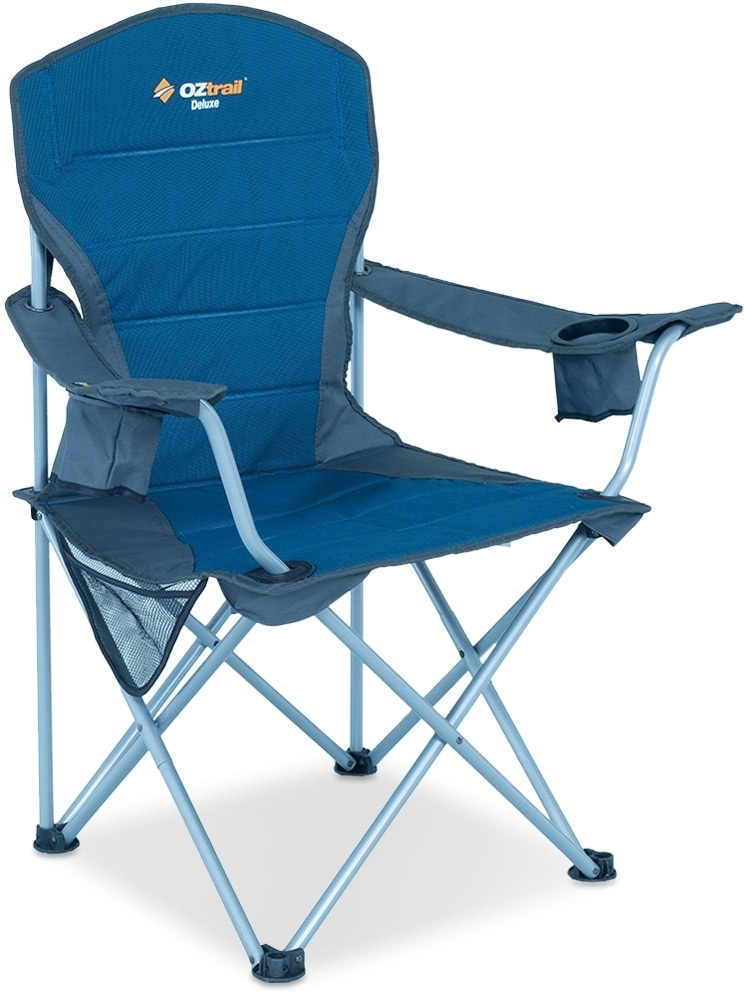Oztrail Deluxe Arm Chair Blue