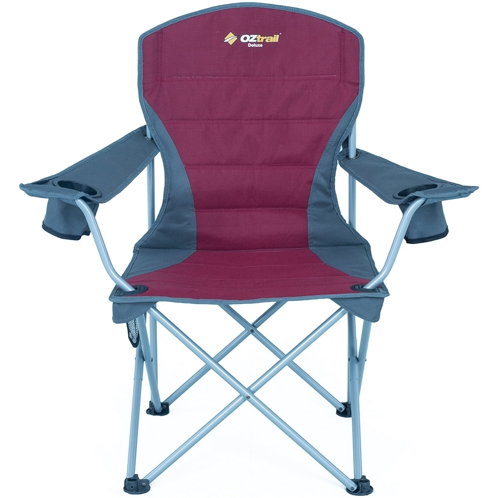 Oztrail Deluxe Arm Chair - Large Drink Holders
