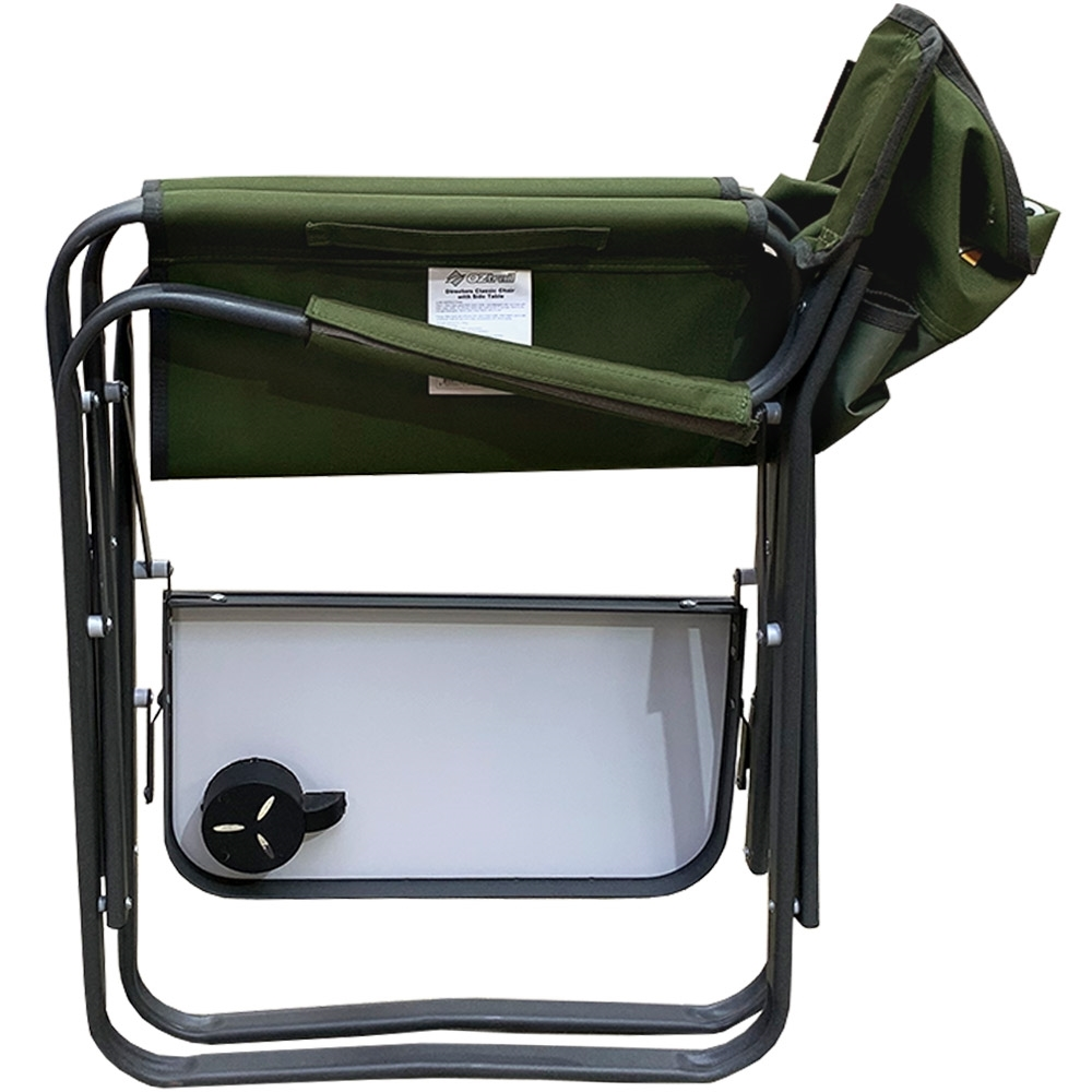 OZtrail Directors Classic Chair & Side Table - Packed