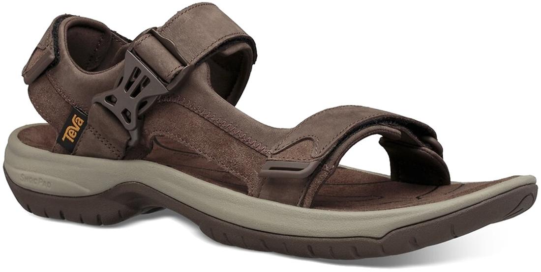 Teva Tanway Leather Men's Sandal Chocolate Brown