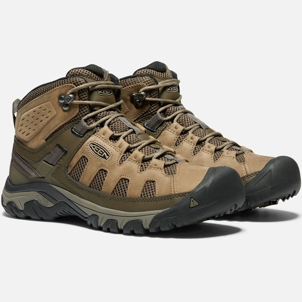 Keen Targhee Vent Mid Men's Boot Environmentally-preferred premium leather from LWG-certified tannery