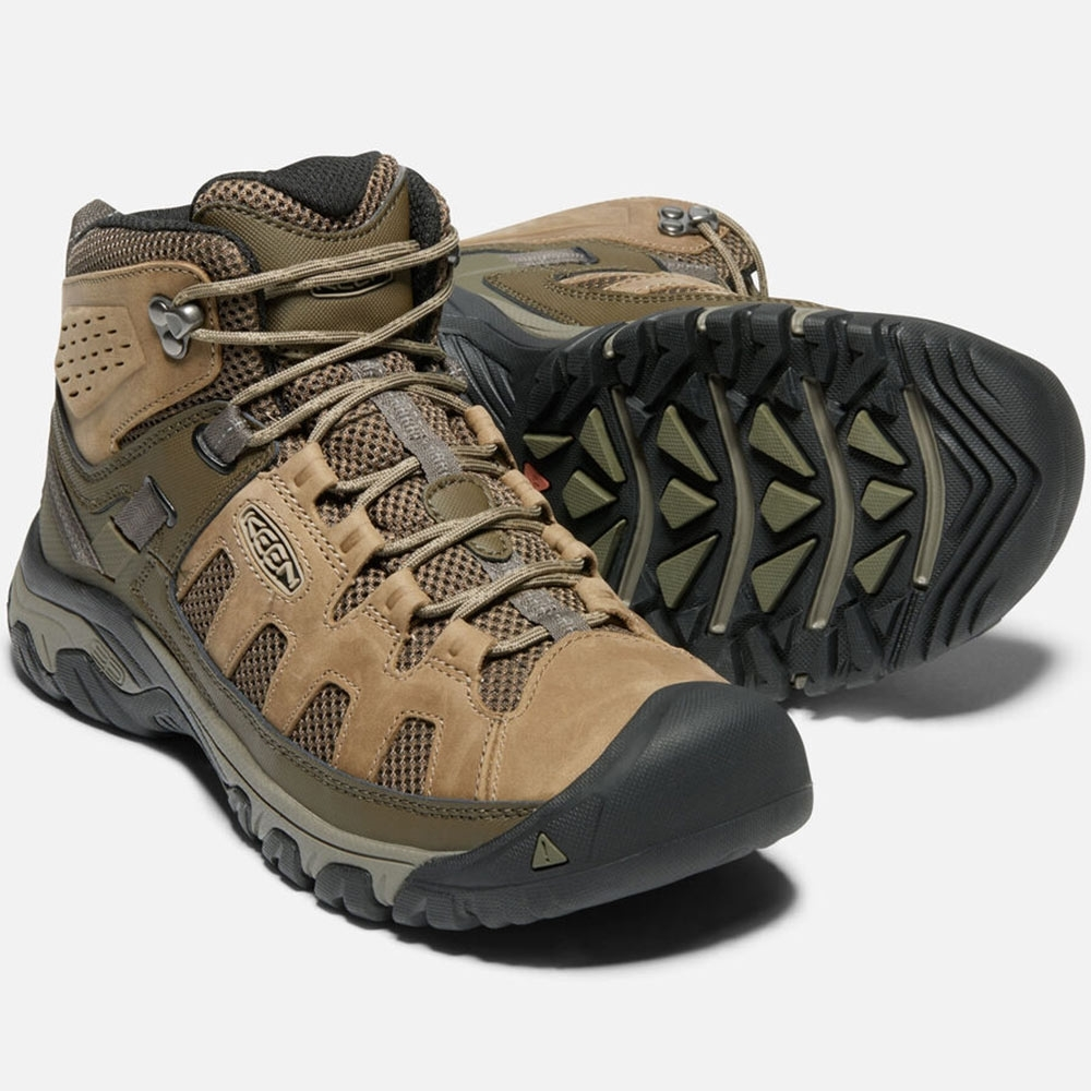 Keen Targhee Vent Mid Men's Boot 4mm multi-directional lugs for traction