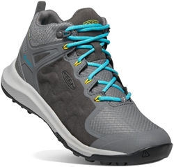 Keen Explore Mid WP Wmn's Boot Steel Grey Bright Turquoise
