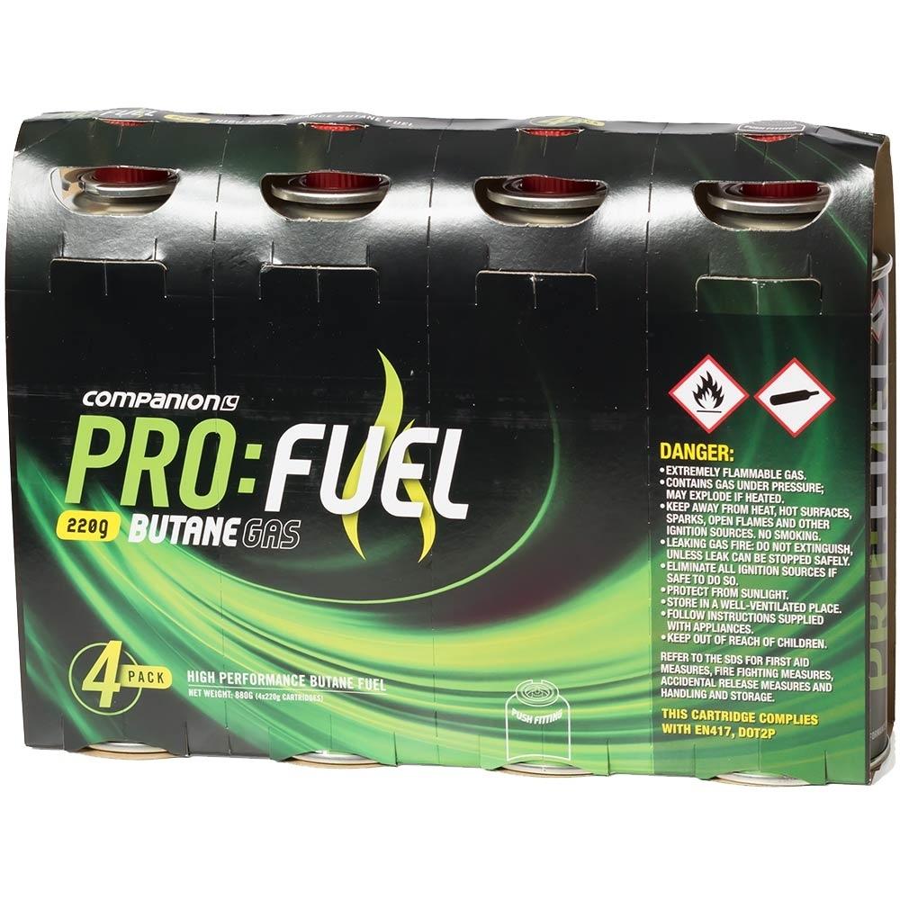 Companion Pro:Fuel Butane Cartridges 4Pk