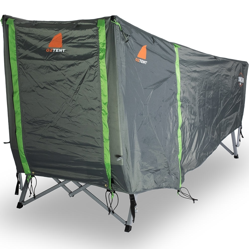 Oztent Bunker Lite Stretcher Tent - All Zipped Up