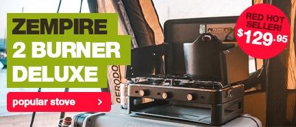 Super popular Zempire 2 Burner Deluxe Stove & Grill