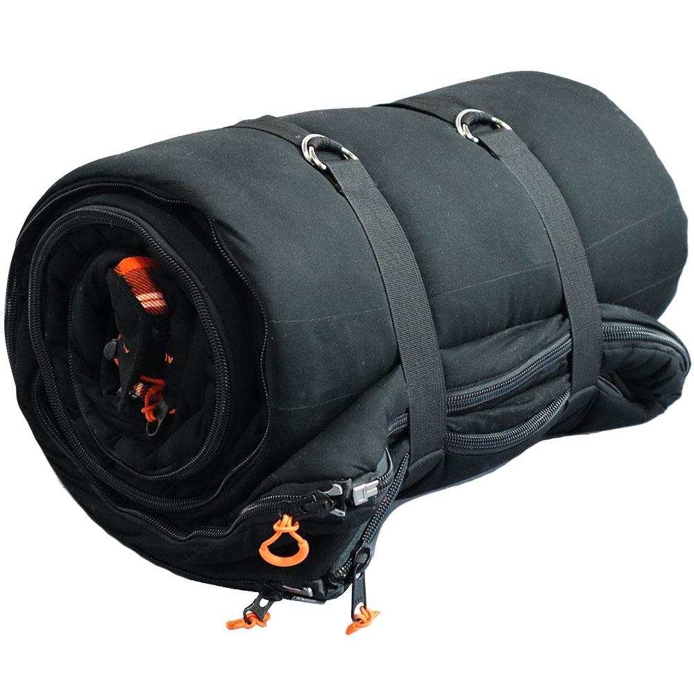 23Zero Alaska Black 900 Sleeping Bag Rolled