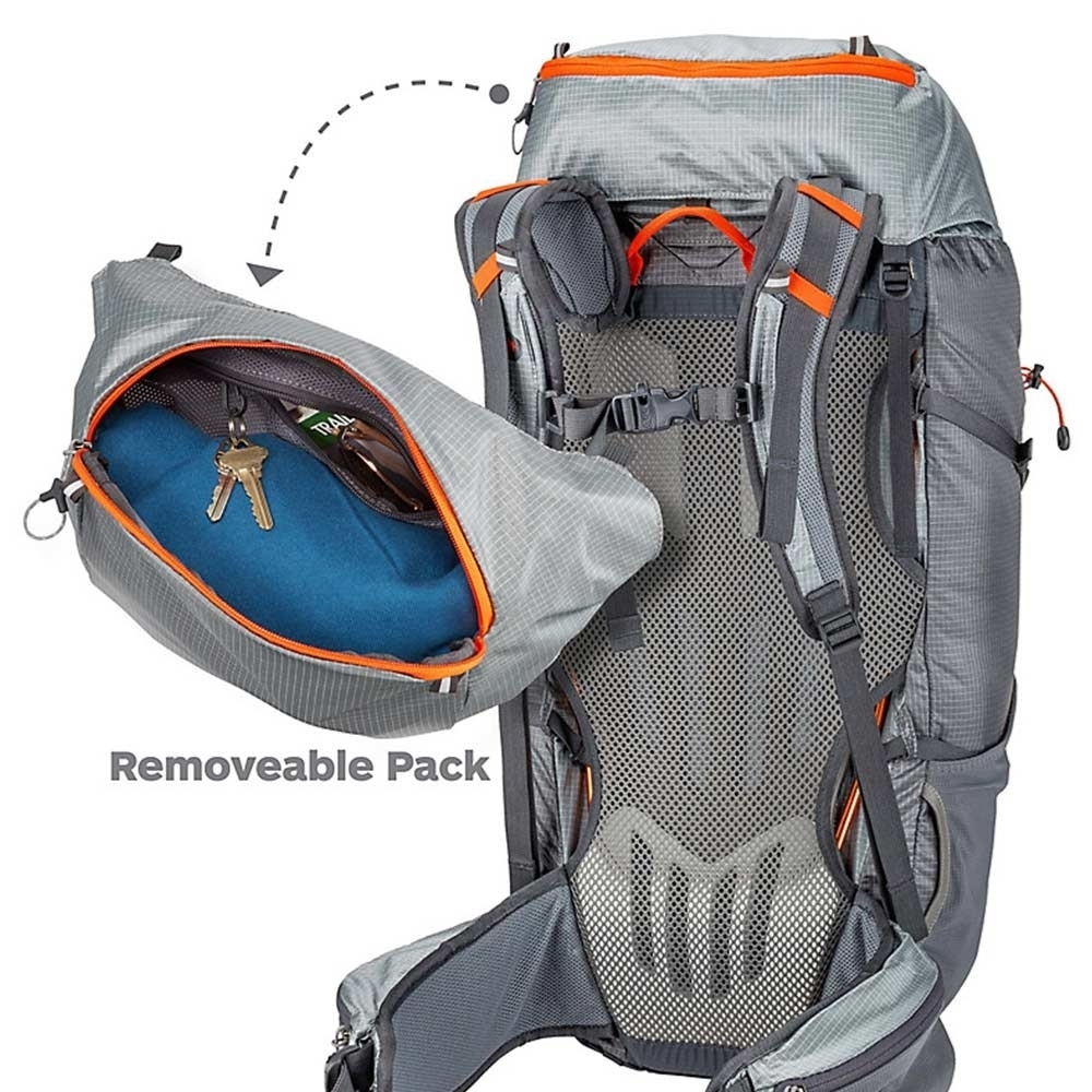 Marmot Graviton 48L Backpack - Removable Lid with Zippered Pocket and Key Clip