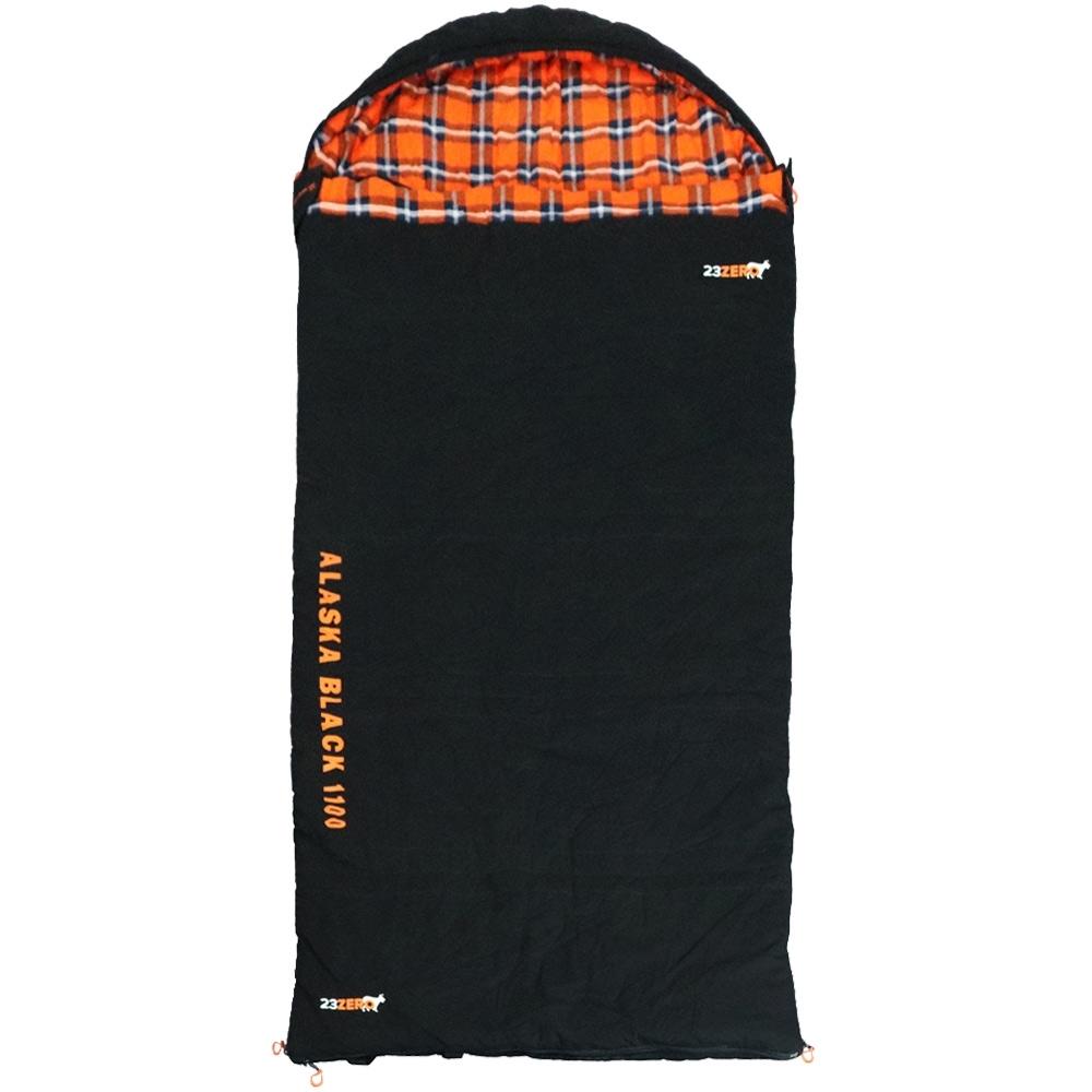 23Zero Alaska Black 1100 Sleeping Bag Fully Zipped