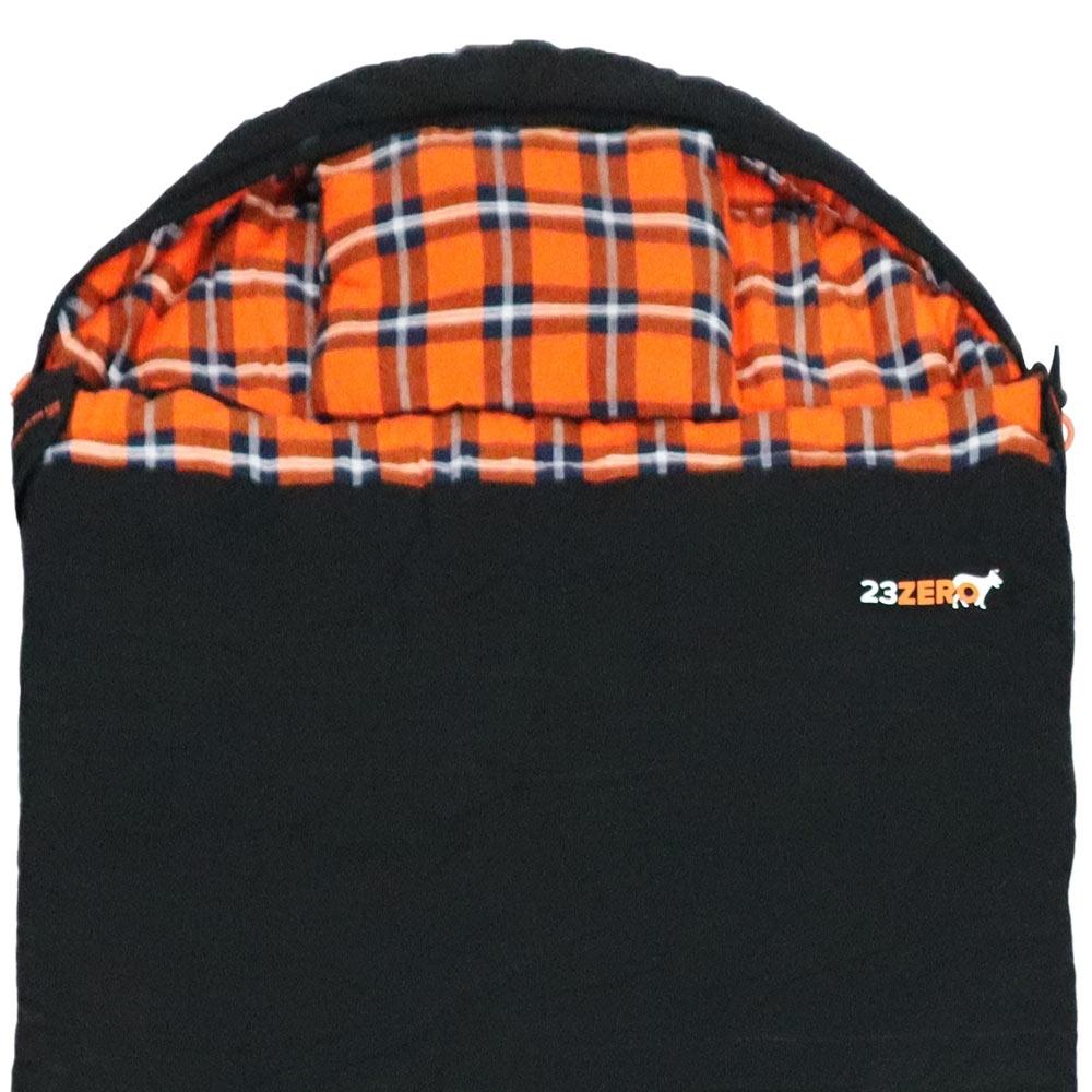 23Zero Alaska Black 1100 Sleeping Bag Hood Detail