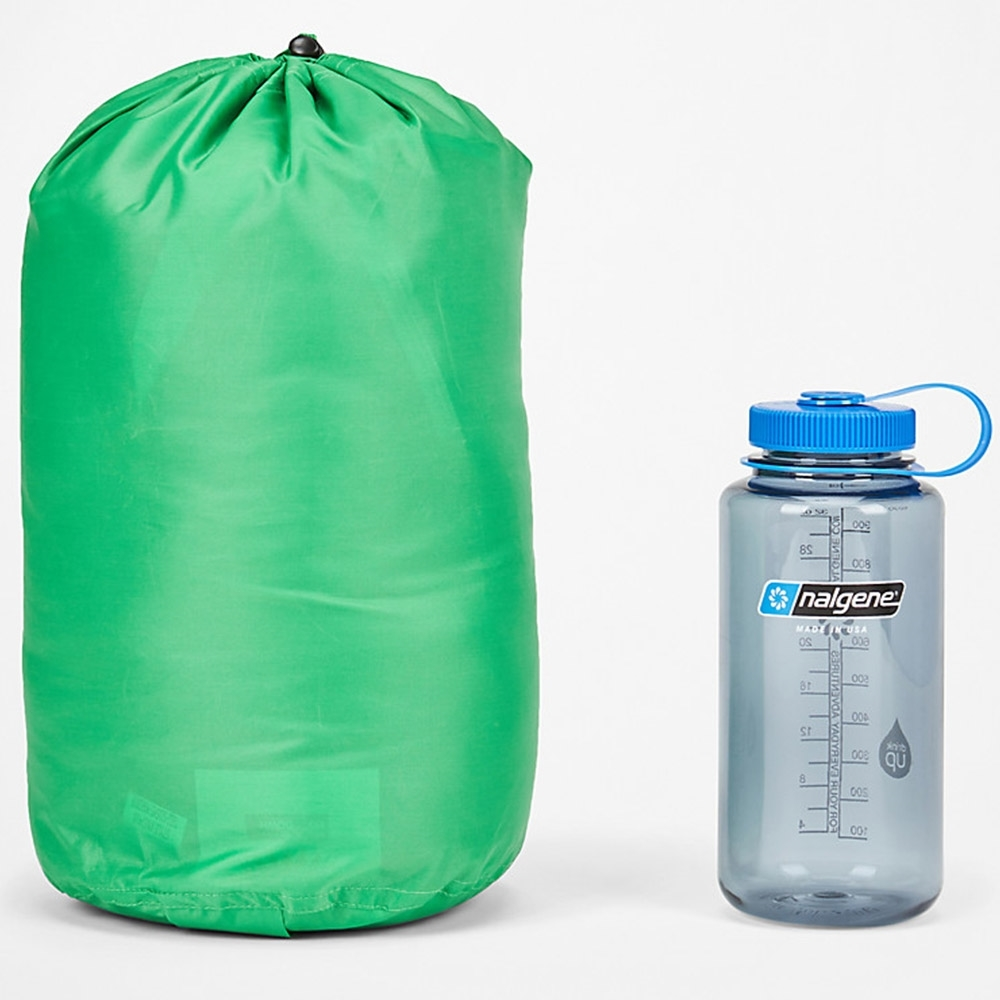 Marmot Yolla Bolly 30 Sleeping Bag - Packed next to 1L Nalgene Bottle