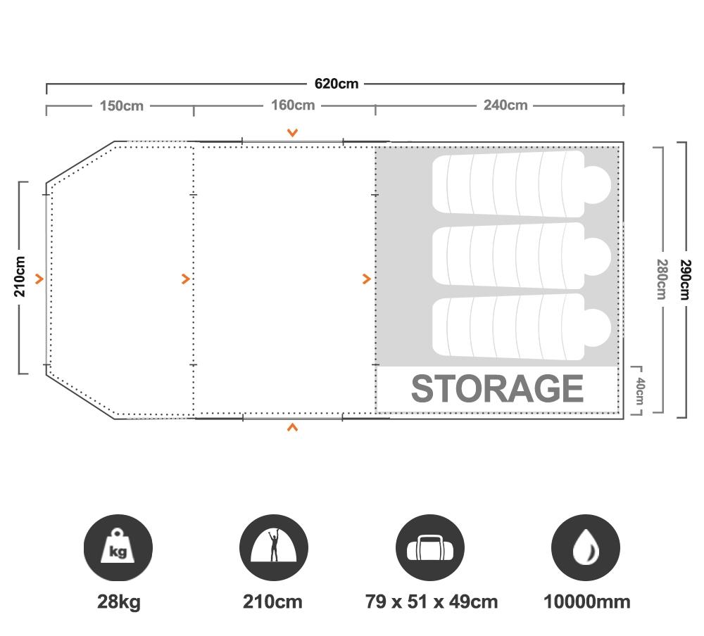 Aero TM Pro Air Tent - Floorplan