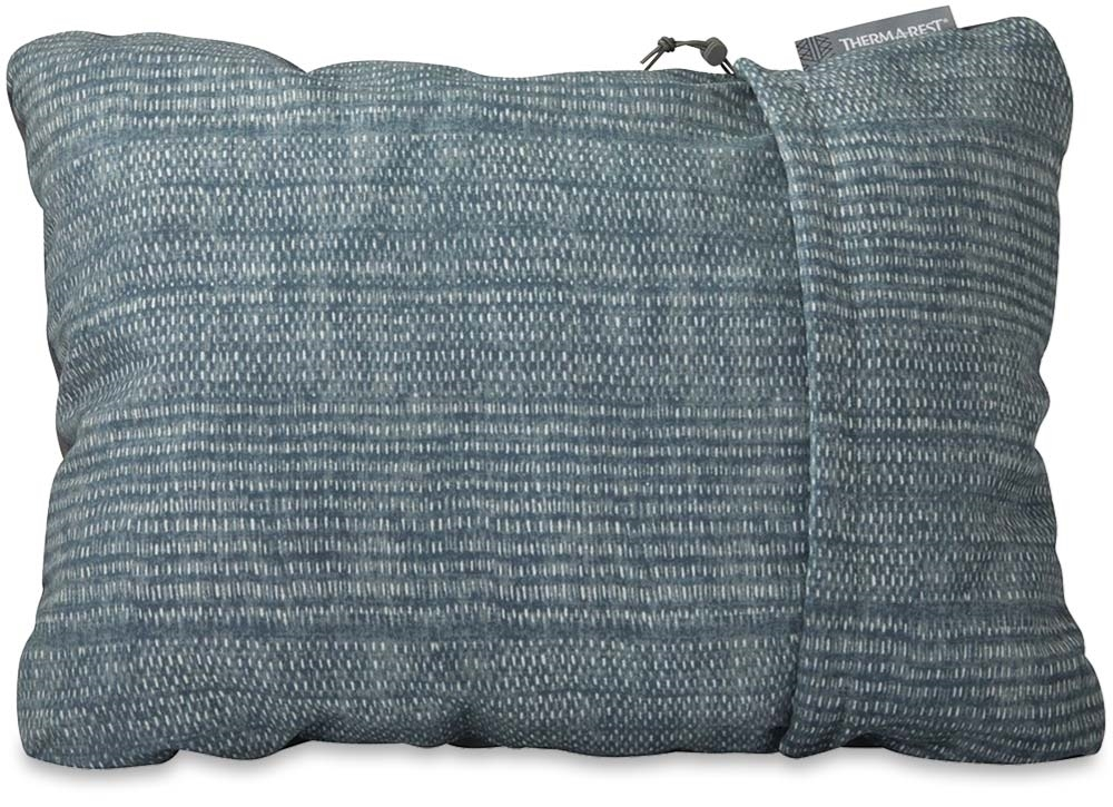 Thermarest Compressible Pillow Medium Blue Woven Dot