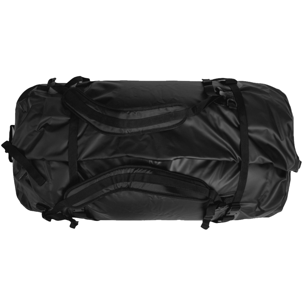 Caribee Expedition Wet Roll Bag 120L Black - Top view