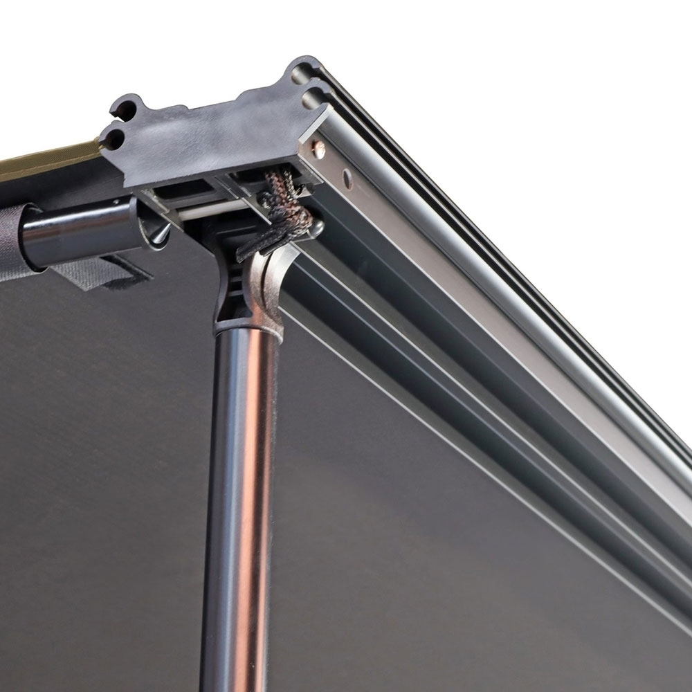 23ZERO Raven 2500 Side Pull Out Awning with LST 2.5 x 2.5m - Flexible hinges