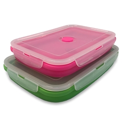 Collapsible Space Saving Products Rectangular Tub Set of 2