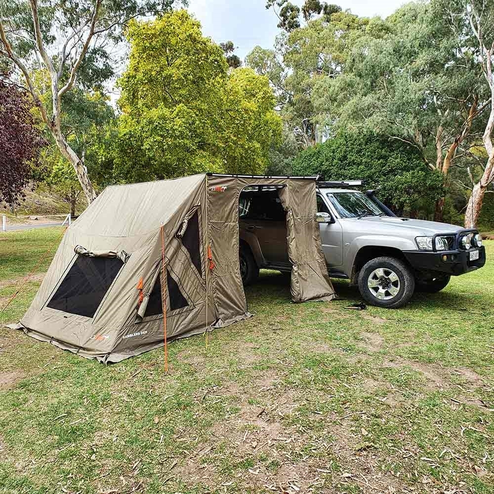 23Zero Ramblers Den Extension Tent 2.5 - Setup on vehicle outdoors