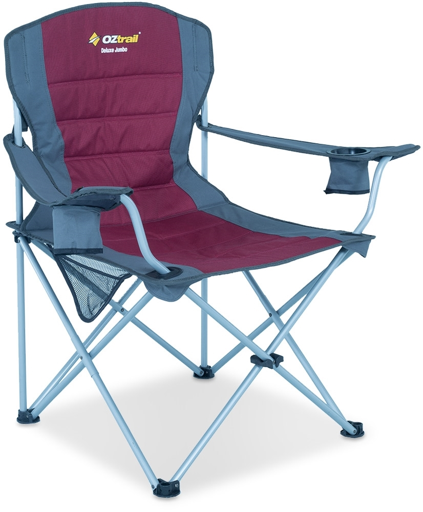 OZtrail Deluxe Jumbo Arm Chair Red