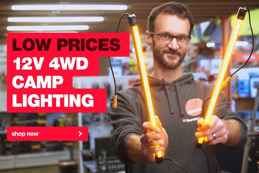 Low prices on a huge range of 12v camp lighting for your 4WD