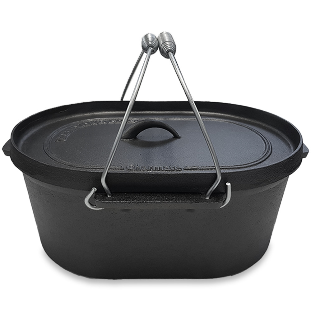 Charmate Oval Cast Iron Camp Oven 10 Quart