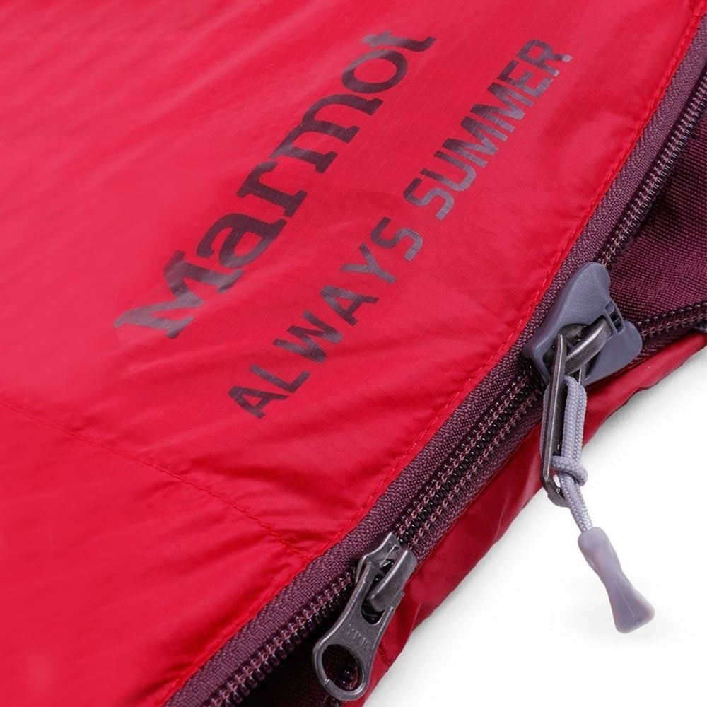 Marmot Always Summer Sleeping Bag - Close up of zips