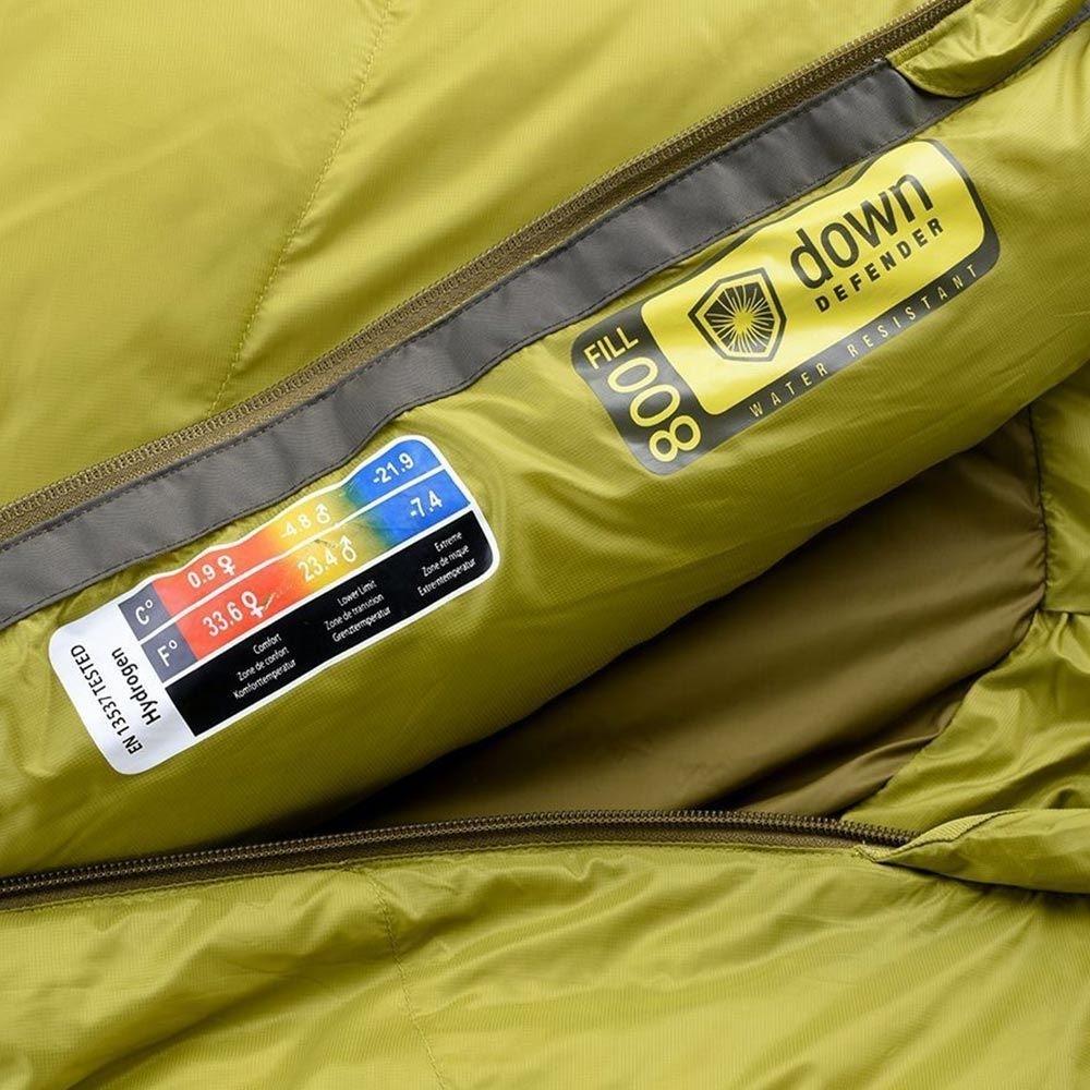 Marmot Hydrogen Sleeping Bag - Close up of bag composition