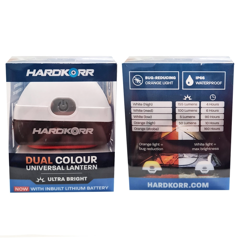 Hard Korr Dual Colour Universal LED Lantern with Lithium Battery - Package