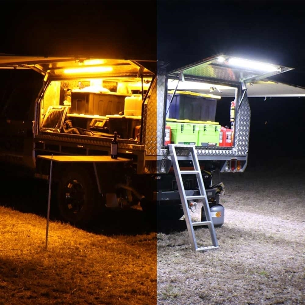 Hard Korr 2 Bar LED 3 Colour Camp Light Kit - Camping