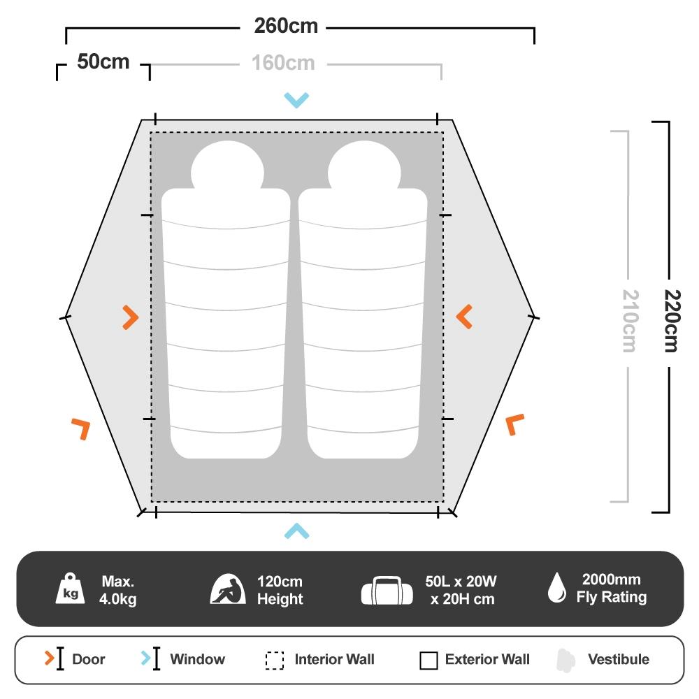 Classic Dome 2 - Floorplan