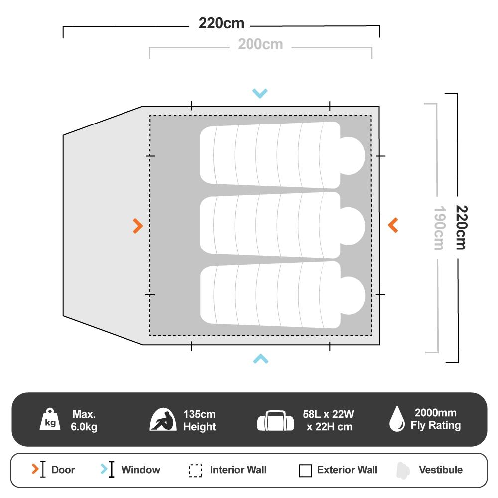 Classic Dome 3+ - Floorplan