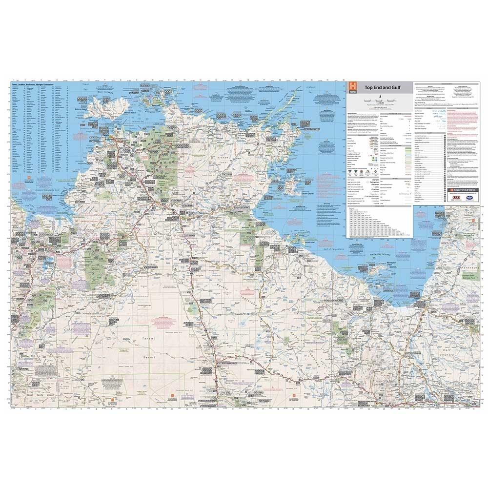 Hema Top End & Gulf Map - Reverse Unfolded