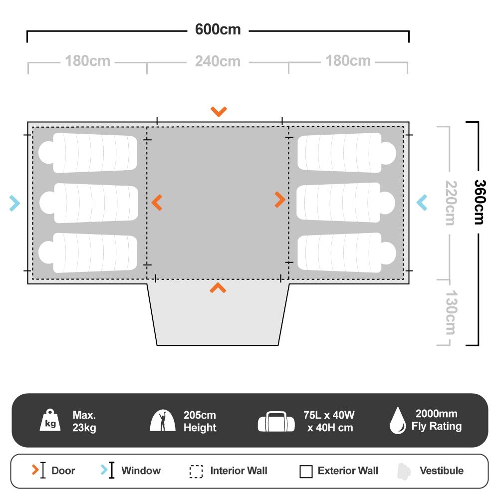 Tuff Tent 10 - Floorplan