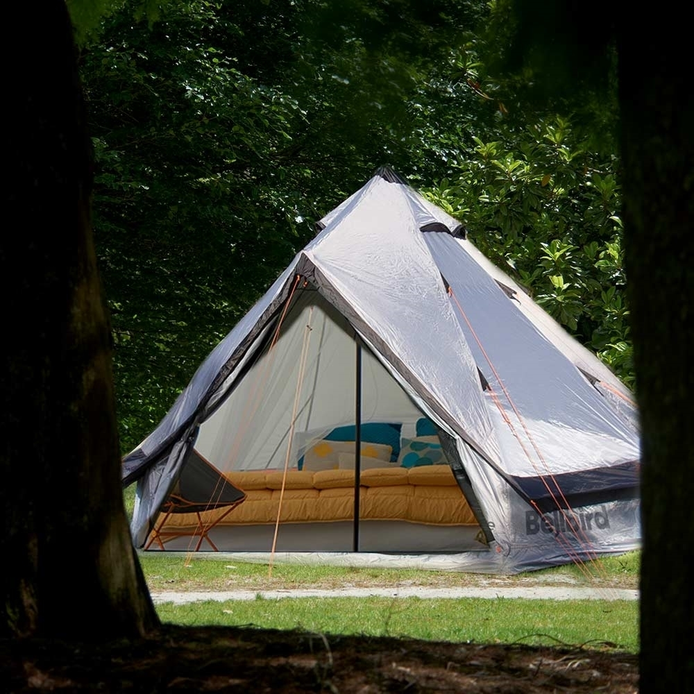 EPE Bellbird Glamping Tent Grey - Outdoor Setup