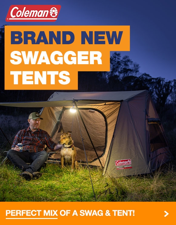 Brand new Swagger Tents from Coleman