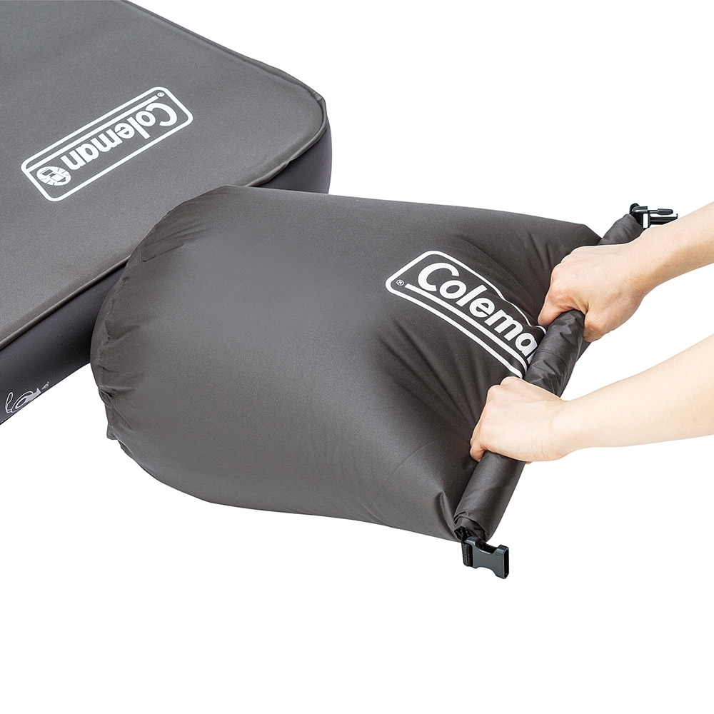 Coleman High Peak Double Camp Mat - Use storage bag as a pump to add additional air