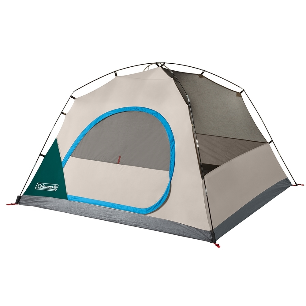 Coleman Quick Dome 4P Dome Tent - Wide door design for easy access