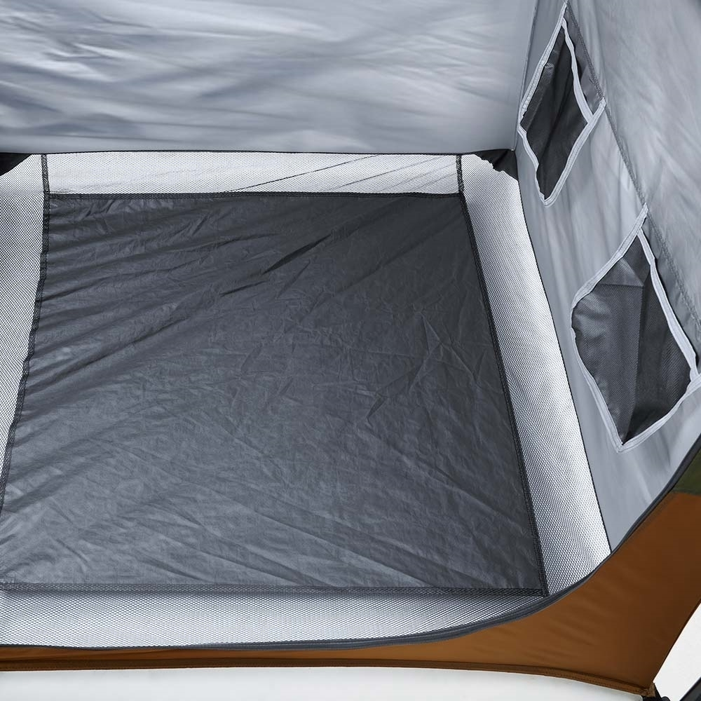 Coleman Instant Up Double Ensuite Tent - PE floor with mesh on outer rim for water draining
