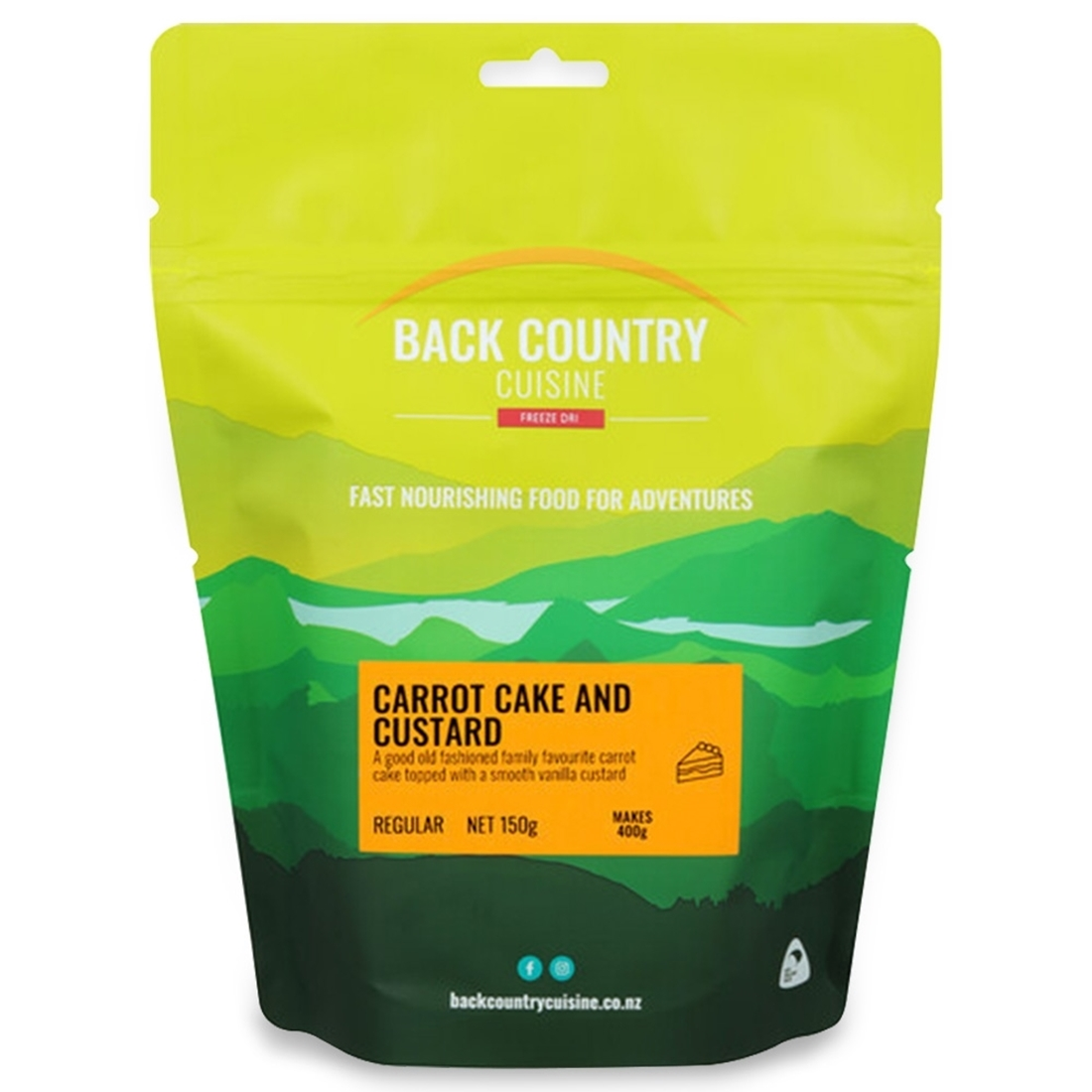 Back Country Cuisine Carrot Cake and Custard 150g