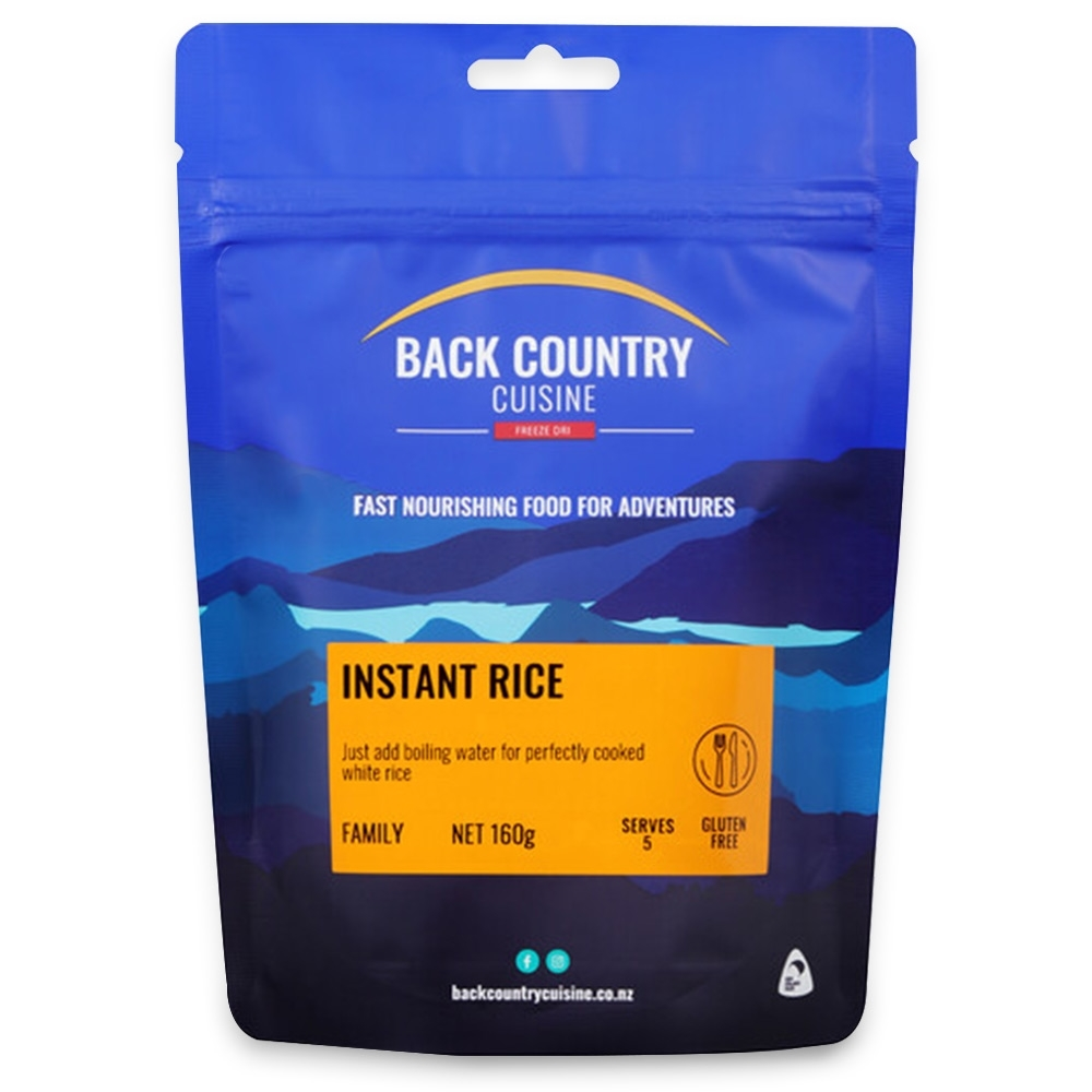 Back Country Cuisine Instant Rice GF 160g