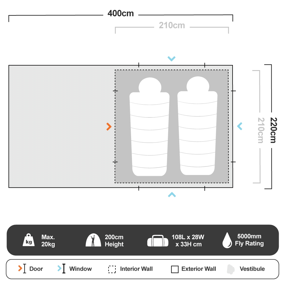 Turbo 210 Tent - Floorplan