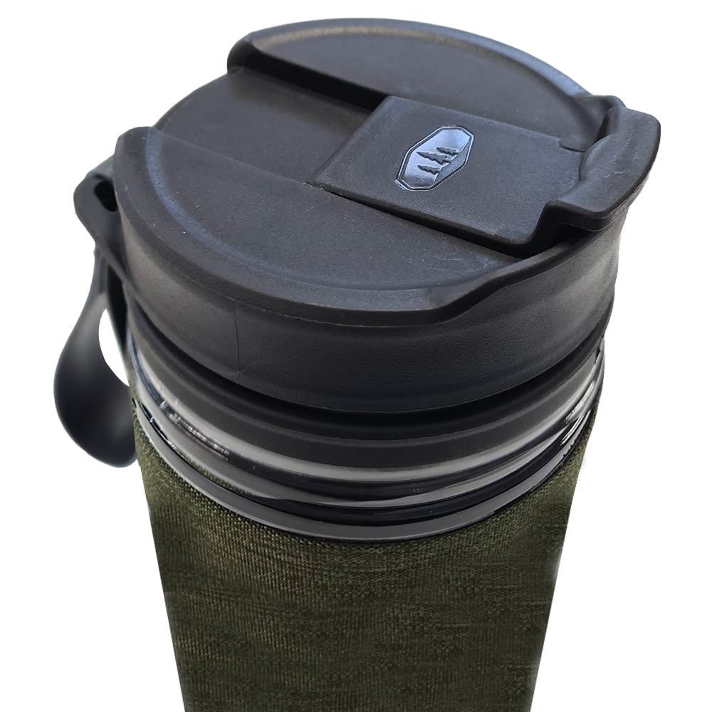 GSI Commuter JavaPress - Spill-resistant flip top lid