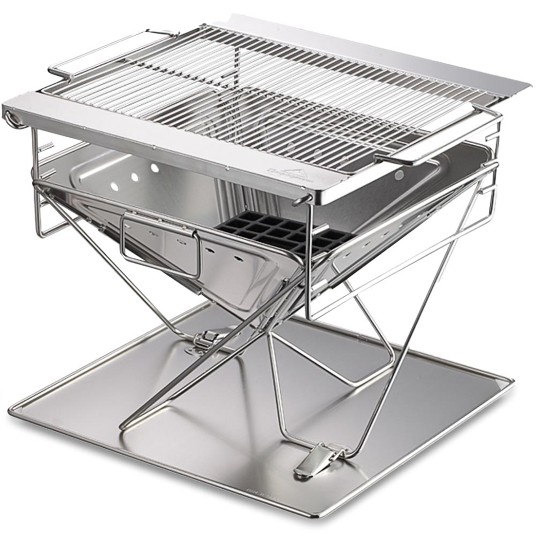 Camping Moon BBQ Stainless Steel Portable Folding Fire Pit