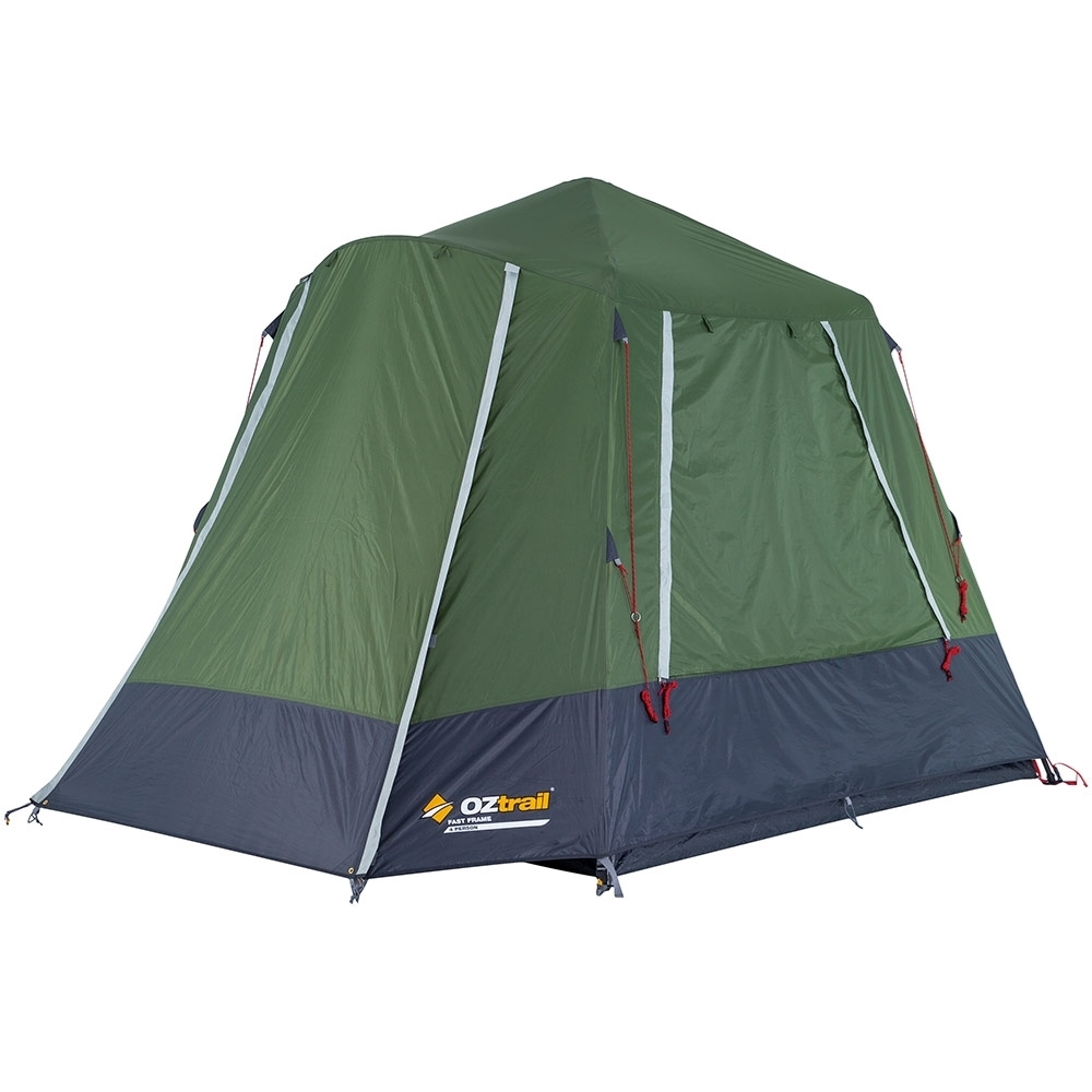 OZtrail Fast Frame 4 Person Tent - 1500mm waterhead rated polyester fly