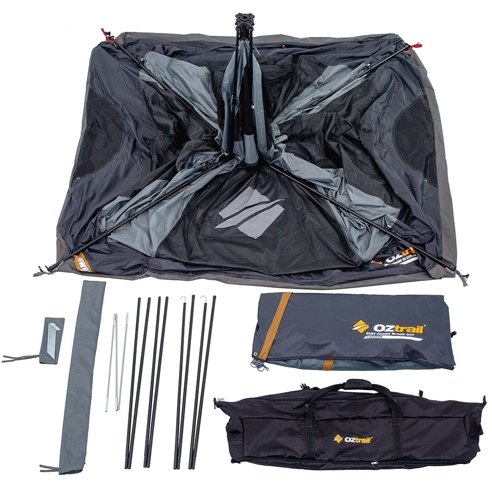 OZtrail Fast Frame BlockOut 4 Person Tent -	Inclusions