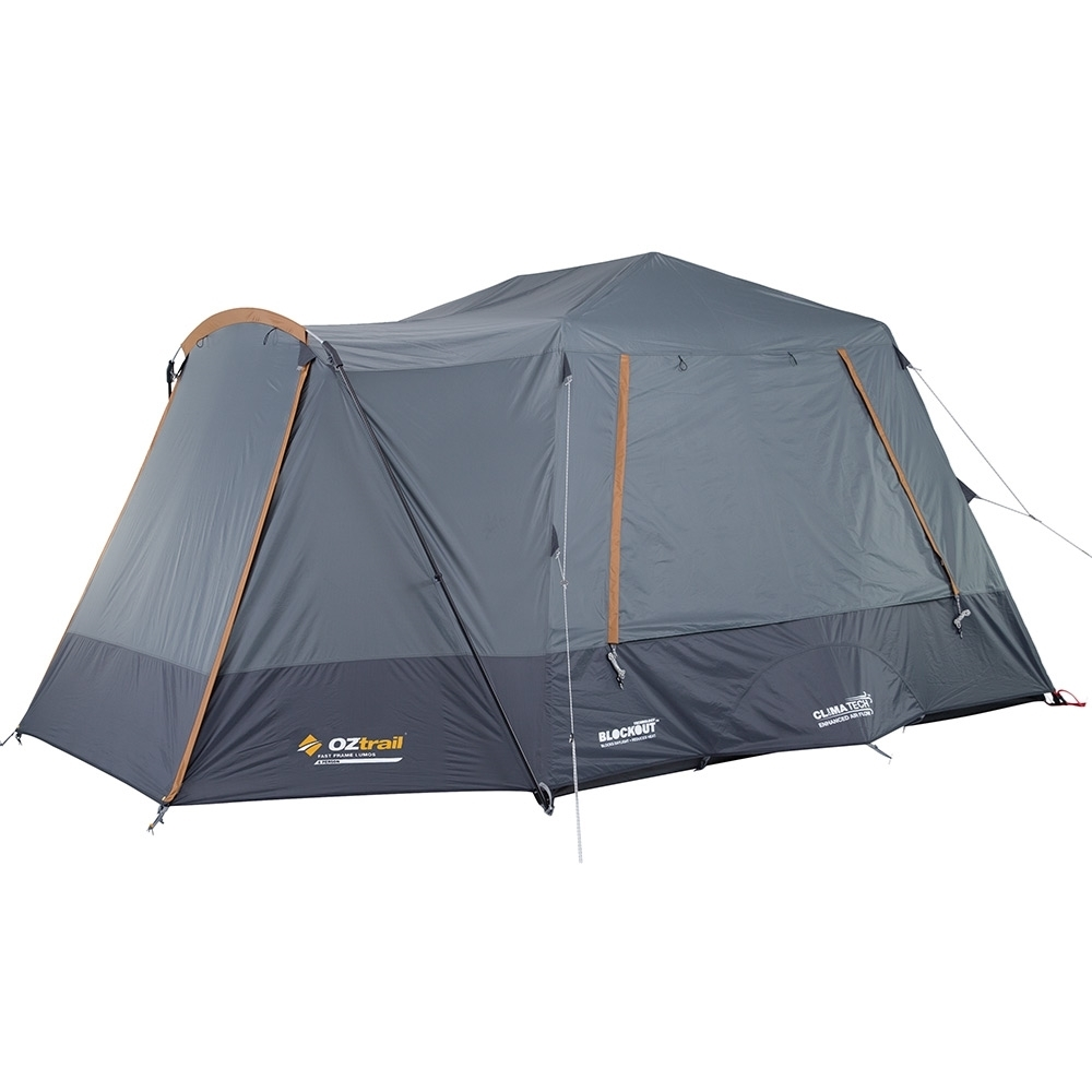 OZtrail Fast Frame Lumos 6 Person Tent - 3000mm waterhead rated polyester fly with BlockOut™