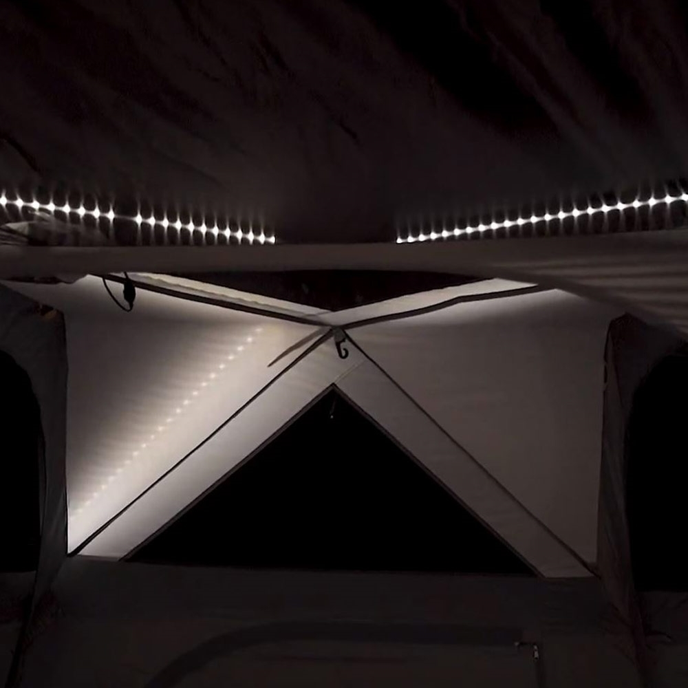 OZtrail Fast Frame Lumos 10 Person Tent - Integrated LED Lighting built into the Fast Frame system