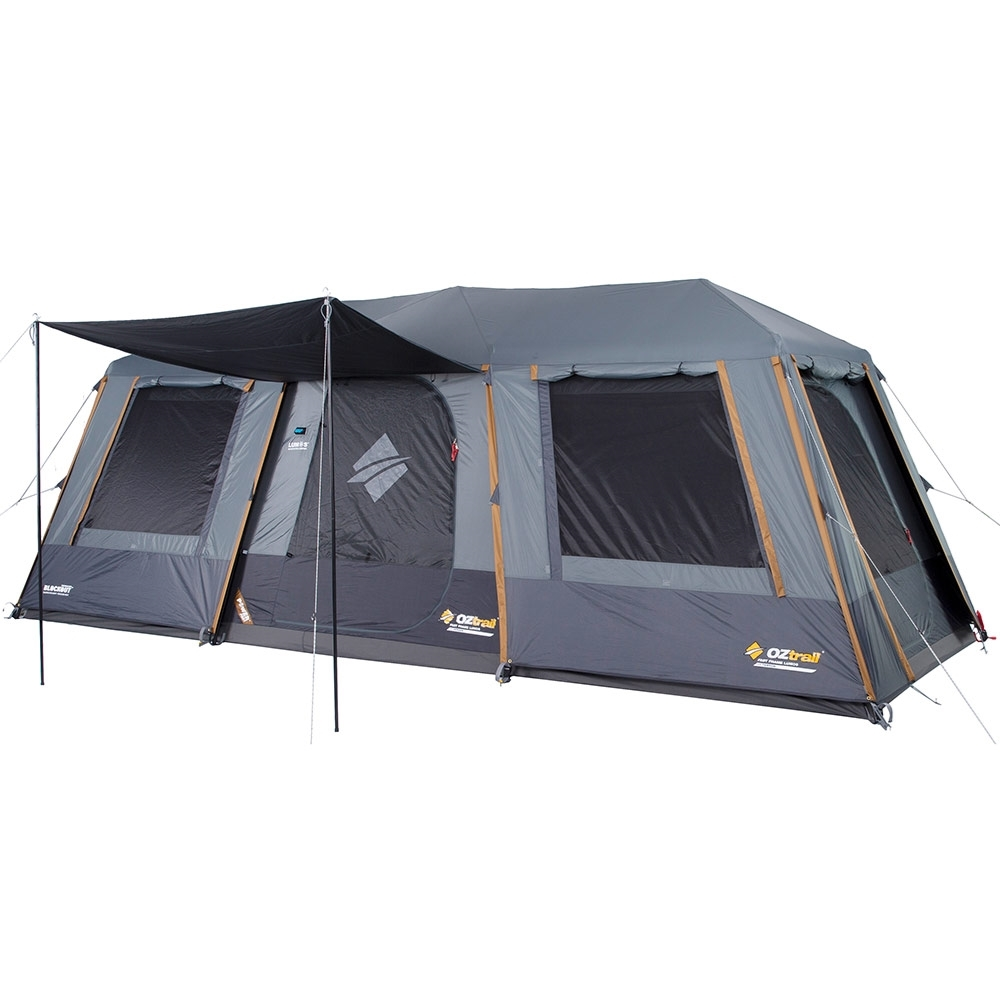 OZtrail Fast Frame Lumos 10 Person Tent - 3000mm waterhead rated polyester fly with BlockOut™