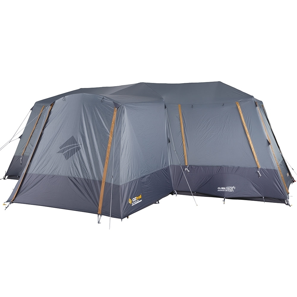 OZtrail Fast Frame Lumos 12 Person Tent - 3000mm waterhead rated polyester fly with BlockOut™