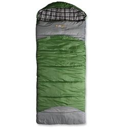 OZtrail Alpine View Jumbo Hooded Sleeping Bag Green